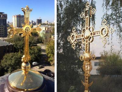 Изготовление золочение крестов