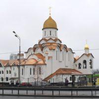 Изготовление куполов на Храм Александра Невского при МГИМО. Глава звонницы с покрытием золотом 999 пробы