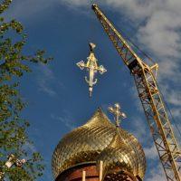 Изготовление куполов на Храме в пос. Сеймчан Магаданской обл.
