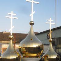 Купола и кресты на звонницу Храма во имя Архангела Михаила