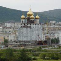 Изготовление куполов на Кафедральный собор Троицы Живоначальной в г. Магадане.