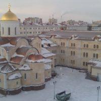 Норильск (Храм новомучеников и исповедников Церкви Русской) - Фальцевая кровля из меди