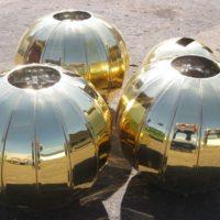 Подкрестные шары для Храма в Молдове. Гальваническое золочение.