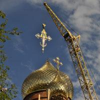Гальваническое золочение. Купол на Храме в пос. Сеймчан Магаданской обл.