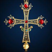 """Гальваническое золочение. Крест """"царского места"""" Воскресенского Собора в Южно-Сахалинске"""