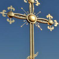 Изготовлен Крест для восстанавливаемой церкви в с. Сошки Липецкой обл.