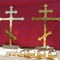 Изготовление крестов для Свято-Дмитревского женского монастыря. Молдова, Припичены.