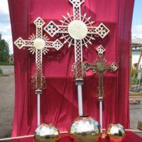 Изготовление крестов и шаров на Собор Иконы Казанской Божией Матери, Иркутск