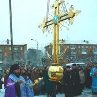 Изготовление, Освящение золотого креста колокольни Спасо-Вознесенского женского монастыря, г.Смоленск.