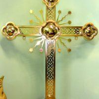 Изготовление Креста сварного из нержавеющей стали. Применена лазерная резка. Покрыт золотом 999 пробы.