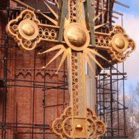 Изготовлен Крест для Храма в г. Хотьково Московской обл.