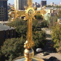 Изготовление креста для Греческого Православного Храма Благовещения Пресвятой Богородицы» в г. Ростов-на-Дону