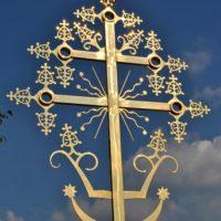Изготовление крестов на восстанавливаемой Троицкой церкви в с. Поречье Бежецкого р-на Тверской обл.