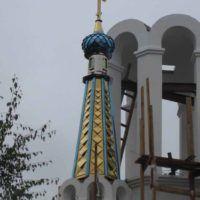 Шатер на колокольне Храма Николая Чудотворца в г. Пушкино, Московской области