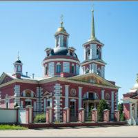 Шпиль на колокольне церкви Сергия Радонежского в п. Алмазово. Щелковский р-н
