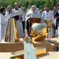 Чин освящения крестов на Храм св. мц. Татианы Римской в Москве