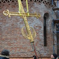 Подъем креста на Храм Новомучеников и Исповедников российских в Строгино