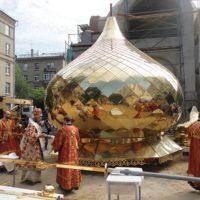 Чин освящения куполов и крестов совершил Марк, архиепископ Егорьевский, викарий Святейшего Патриарха Московского и всея Руси