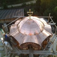 Монтажные работы в Николаевском Малицком мужском монастыре Тверской обл.