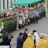 Святейший Патриарх Кирилл на освящении Храма Воскресения Христова в Катыни
