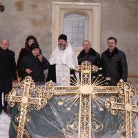 Освящение золотых крестов Троицкой церкви, МО, Серпуховской р-н, с. Лужки