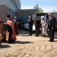 Освящение места строительства часовни в Удомле вблизи АЭС