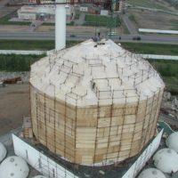 Выполнение работ по покрытию и золочению сусальным золотом центрального купола мусульманского культурного центра в г. Астане Республики Казахстан.