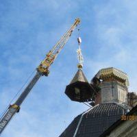 Изготовление и монтаж креста на купол