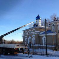 Монтажные работы на Храме в Нижегородской обл.