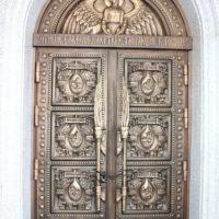 Входная дверь. Литье из бронзы