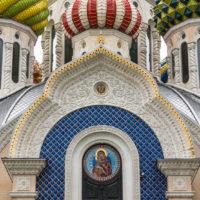Соборный Храм святого о князя Игоря Черниговского в Переделкино. г. Москва. Украшение подзорами