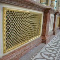 Декоративные решетки. Литье из латуни. Золочение гальваническим способом