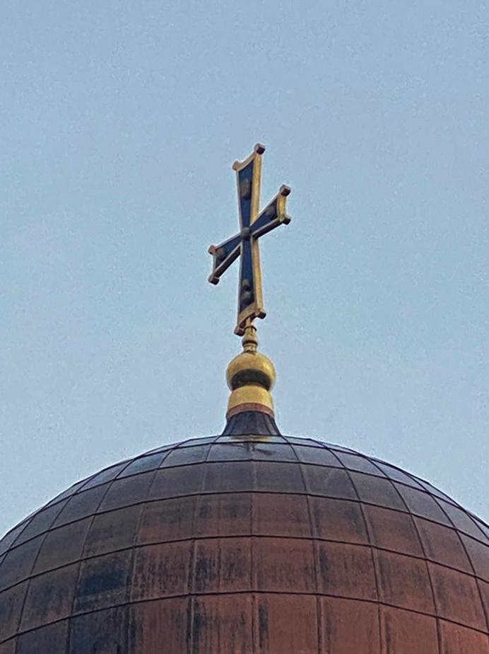 Изготовление и монтаж крестов на Храм Покрова Пресвятой Богородицы
